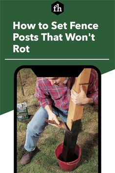 Keep moisture and insects from destroying your cedar fence posts. Cedar Fence Posts, Wooden Fence Posts, Chicken Fence, Chicken Barn, Backyard Projects, Pallet Projects, Handy Tips, Helpful Hints, Cleaning Contracts