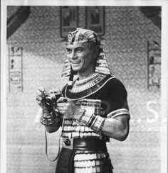 Yul Brynner during production of THE TEN COMMANDMENTS, 1956 :: Cecil B. DeMille Photographs