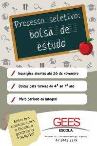 folder - bolsa de estudo Escola GEES em Itapoá