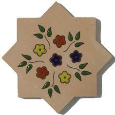 Mexican floor tiles: star for border e-43