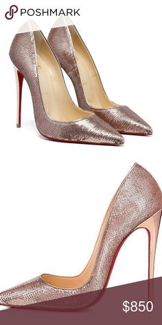 2da86d2aae0d so kate Paillette Sirene Nappa Laminato Worn once to a wedding practically  brand new. Comes with box and dust bag and extra heel tips Christian  Louboutin ...