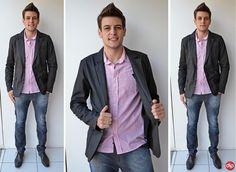 Aposte na combinação camisa + blazer. É moderna e combina com qualquer estilo!