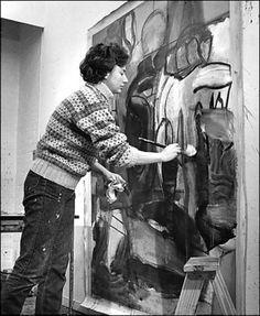 Grace Hartigan - March 28, 1922 - 2008. S) woman abstract artist, preach