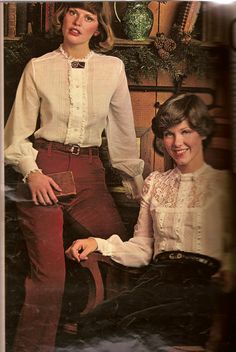 Seventeen magazine Dec.'74  Those Victorian style blouses with corduroy