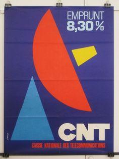 Emprunt national des telecommunications by Tuloup J. vintage poster