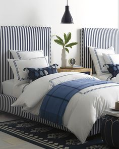 Twin Bed Sets With Comforter Product Coastal Master Bedroom, Coastal Bedrooms, Guest Bedrooms, White Bedroom, Bedroom Neutral, Bedroom Modern, Small Bedrooms, White Bedding, Master Bedrooms
