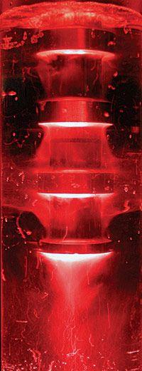 Ultrasonic waves of high intensity ultrasound generate cavitation in liquids.