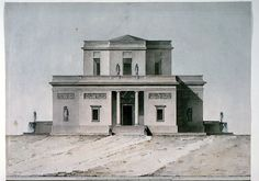 """""""Elevation of a Country Villa"""", ca. 1820 / Italy"""
