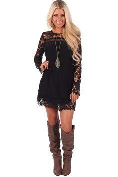 Lime Lush Boutique - Black Lace Detail Shift Dress, $69.99 (http://www.limelush.com/black-lace-detail-shift-dress/)