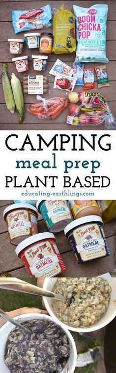 Not about all of this here but some of the meals for this example sound really good Camping Meal Prep Plant Based Educating Earthlings Breakfast And Brunch, Plant Based Snacks, Plant Based Recipes, Road Trip Essen, Vegan Starter Guide, Vegetarian Camping, Healthy Camping Meals, Vegetarian Protein, Vegetarian Meal