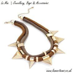Triangle Cord Design Necklace