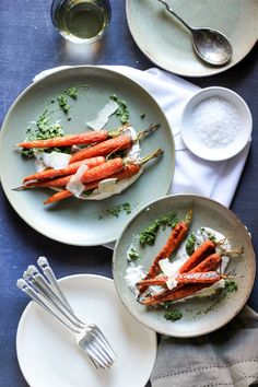 Sweet Roasted Carrots with Kale Pesto & Spiced Greek Yogurt - SheEats.ca Get the 30 minute recipe --> sheeats.ca/...