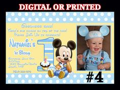 Printable baby mickey mouse 1st birthday iron on transfer girl printable baby mickey mouse 1st birthday iron on transfer girl custom colors personalized name age digital pdf 275 via etsy filmwisefo Image collections