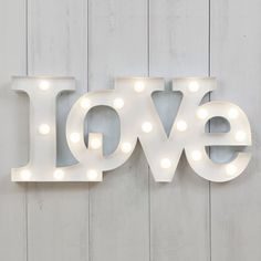 Circus Love Led Light: Scritta Luminosa Love Bianca