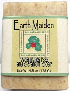 West Indies Bay Geranium soap by Earth Maiden is spicy and fragrant in a goat milk soap enjoyed by all.