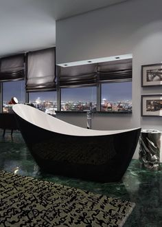This bath is both visually attractive and created using high quality materials. The dramatic swooping design of this bath is certain to elevate any bathroom design.