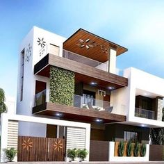 Examples Of Modern Houses With Exteriors Designs House Outer Design, Modern Small House Design, Modern Exterior House Designs, Classic House Design, House Front Design, Exterior Design, Bungalow Haus Design, Duplex House Design, Villa Design
