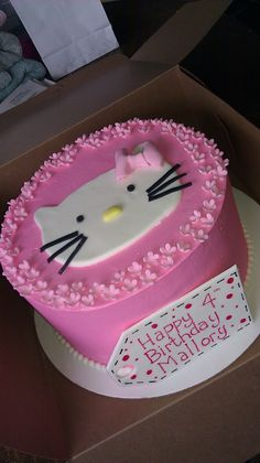 Simple Hello Kitty Cake