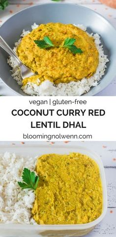 Coconut Curry Lentil Dhal | Vegan, Gluten-free