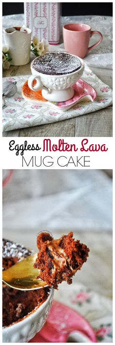 Every time you crave something sweet, make this teeny cake in a cup or mug and satisfy your taste buds instantly. It is eggless and you will have gooey melted milk chocolate in the center, yummmers!