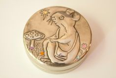 Tooth Fairy tin with handcrafted pewter detail - AnnMack Metal Worx, Felted Slippers, Tea Cozy, House Mouse, Tooth Fairy, Ancient Art, Spoon Rest, Pewter, Tin