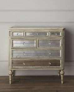 Dresden Mirrored Chest - Horchow 37 high (too tall for changing table)