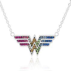 DC COMICS DC Comics Wonder Woman Brass Rainbow Crystal Pendant Necklace #wonderwoman #ad