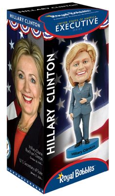 Nothing says you're a supporter of Hillary Clinton than your own Hillary Clinton bobblehead!
