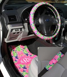 Lilly Pulitzer Inspired Car Accessories Car Mats by ChicMonogram