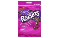 Cadbury Chocolate Covered Raisins. Cadbury Chocolate Bars, Chocolate Sweets, Best Chocolate, Chocolate Lovers, Cadbury Uk, Cadbury World, Chocolates, Chocolate Covered Raisins, Importance Of Food