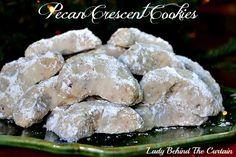 Pecan Crescent Cookies