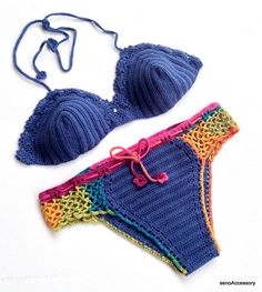 Bikini Set Crochet Bikini Top Bikini Bottom Women by senoAccessory