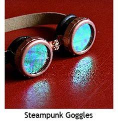 steampunk googles/ DIY Steampunk Boy, Steampunk Goggles, Steampunk Cosplay, Steampunk Fashion, Science Fiction Authors, Playing Dress Up, Halloween Crafts, Diy Fashion, Gemstone Rings