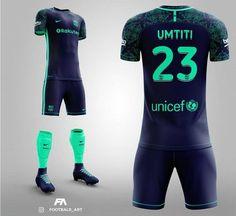 No photo description available. Nike Football Kits, Football Design, Soccer Kits, Football Uniforms, Team Uniforms, Football Jerseys, Barcelona Third Kit, Neymar Jr, Sports Jersey Design