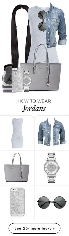 """"""".."""" by thenamesmyia on Polyvore featuring James Perse, Retrò, Michael Kors and Modström"""