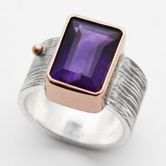 100% custom, 100% conflict-free, all luxe.  meet the newest in susan west's collection: this 6.15ct amethyst is set in 14k rose gold and sterling.  only at blue.  www.bluegoldsmiths.com