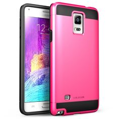 Galaxy Note 4 Case, i-Blason Unity Series 2 Layer [Ultra Slim] Armored Hybrid Cover For Samsung Galaxy Note 4 [SM-N910S / SM-N910C] with Inner Soft Case and Hard Outter Shell (Pink)