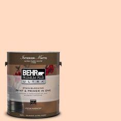 BEHR Premium Plus Ultra 1-gal. #250A-3 Whispering Peach Flat/Matte Interior Paint-175001 - The Home Depot