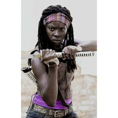 Michonne Don't open. Dead inside. ❤ liked on Polyvore featuring the walking dead, michonne and walking dead