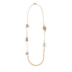 Sweet and feminine beaded necklace at enamored.kitsylane.com.  In love!