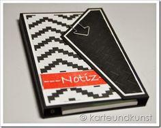 Black&White Notizblock http://karteundkunst.blogspot.de/2014/09/black.html