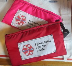 Insulated Epi Pen® or Auvi-Q ® weather proof zippered pouch case with options toss in your pack or purse