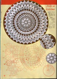 Kira scheme crochet: Scheme crochet no. Crochet Doily Diagram, Crochet Mandala Pattern, Crochet Circles, Crochet Patterns, Dress Patterns, Doilies Crafts, Lace Doilies, Crochet Home, Crochet Gifts