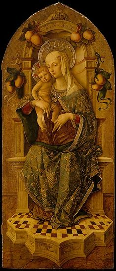 Madonna and Child Enthroned Carlo Crivelli 1475-90 / Ancona