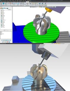 5 axis machining in #ZW3D, with and without rendering. #machining