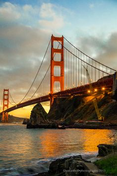 Optional Stop - Golden Gate - 75 years, San Francisco Dream Vacations, Vacation Spots, San Francisco Wallpaper, Places Around The World, Around The Worlds, Wonderful Places, Beautiful Places, San Diego Living, Ocean Wallpaper