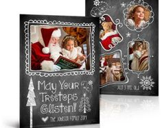Christmas Card Design YULE TIDE Tri-Fold Luxe Card by ashedesign