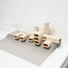 by Preparando la maleta para… Building abstract model Architecture Model Making, Architecture Drawings, Concept Architecture, Interior Architecture, Tyni House, Landscape Model, 3d Modelle, Arch Model, Modern Architects