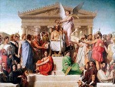 Giclee Print: The Apotheosis of Homer, 1827 by Jean-Auguste-Dominique Ingres : Auguste, Dominique, European Paintings, Fashion Painting, Ancient Art, Art History, Find Art, Mythology, Oil On Canvas