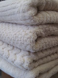 PB-Love that they're one color three textural designs.    untreated, hand woven,Turkish Towels | HandEye